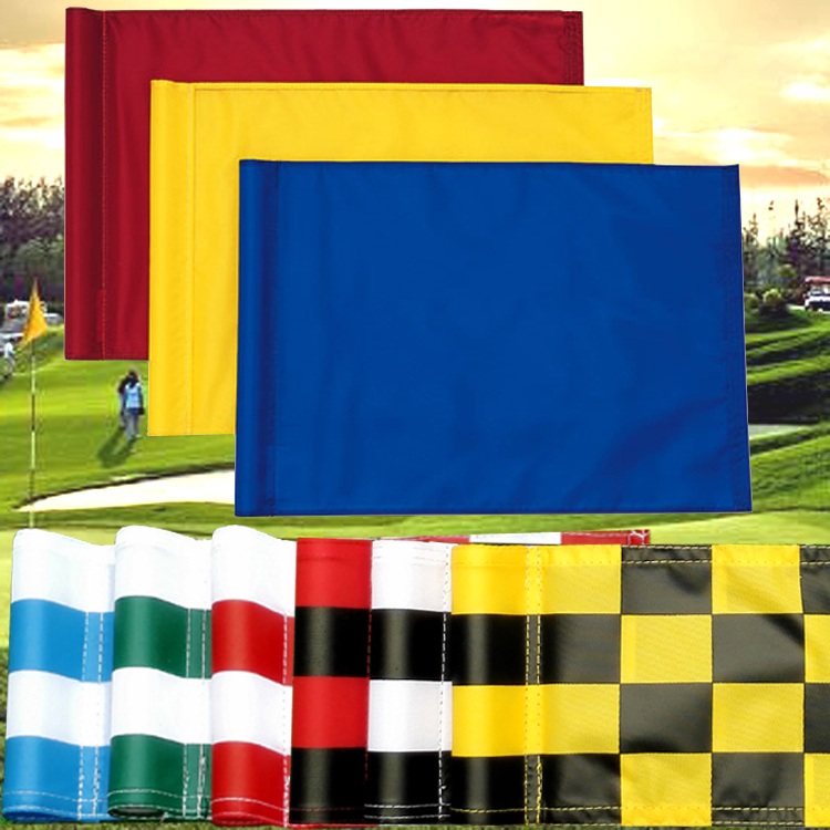 assored color and size 18 x 12 cm golf tube flags