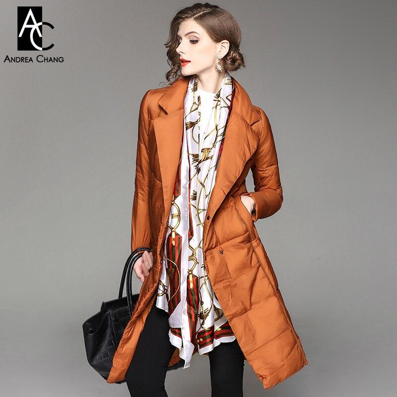 super popular 16651 93ba0 Autunno inverno donna cappotto outwear piume d'anatra bianca ...