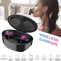 6D Stereo Bluetooth 5.0 TWS Wireless Earphones X1 Waterproof Noise Reduction Earbuds with 16H Super Long Playtime & Charging box