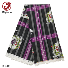 Hot Selling African Printing Ribbon Organza Fabric 5 yards High Quality Lace for ladys dresses RIB-04-14