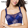 FallSweet Full Cup Women Bra Brassiere Wirefree C D cups For ladies 36 38 40 42 44 Plus Size Underwear