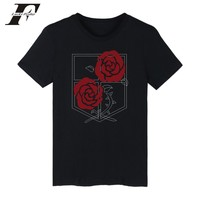 LUCKYFRIDAYF Attack On Titan T Shirt Funny Summer Short Sleeve T Shirt Female High Quality Cotton