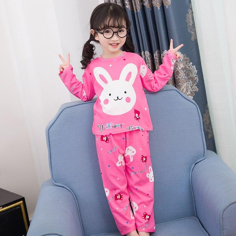 New Arrivals 2018 WAVMIT Children   Pajamas     Set   Baby Long Sleeved Sleepwear Suit Girls Nightwear Pants Boys Tops Kids Gift Autumn