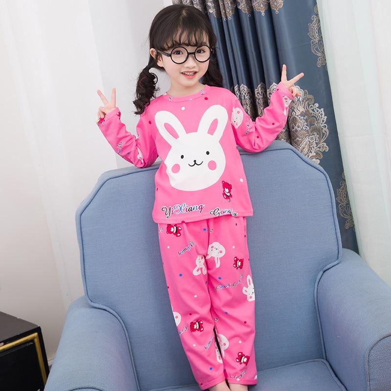 New Arrivals 2019 WAVMIT Children Pajamas Set Baby Long Sleeved Sleepwear Suit Girls Nightwear Pants Boys Tops Kids Gift