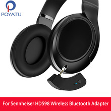 POYATU ل Sennheiser HD598 سماعة لاسلكية تعمل بالبلوتوث محول سماعة لاسلكية تعمل بالبلوتوث المتكلم محول ل HD 598 599 579 569 استقبال aptX