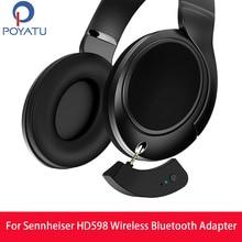 POYATU dla Sennheiser HD598 bezprzewodowy Adapter Bluetooth bezprzewodowy Adapter głośnika Bluetooth dla HD 598 599 579 569 odbiornik aptX