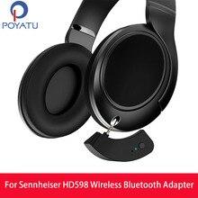 Pointu adaptador de alto falante sem fio, para sennheiser hd598, bluetooth hd 598 599 579 receptor aptx