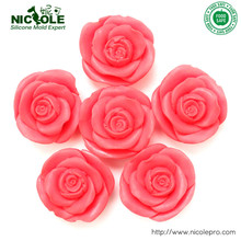 Soap Molds 6-cavity  Roses Soft Silicon mold DIY Mould For pudding Jelly Cake handmade soap diy kitchen cake jelly pudding mould blue 12 pcs