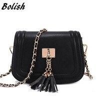2016 Spring And Summer Mini Tassel Chain Bag Women S Small Bags Pu Leather Women Handbag