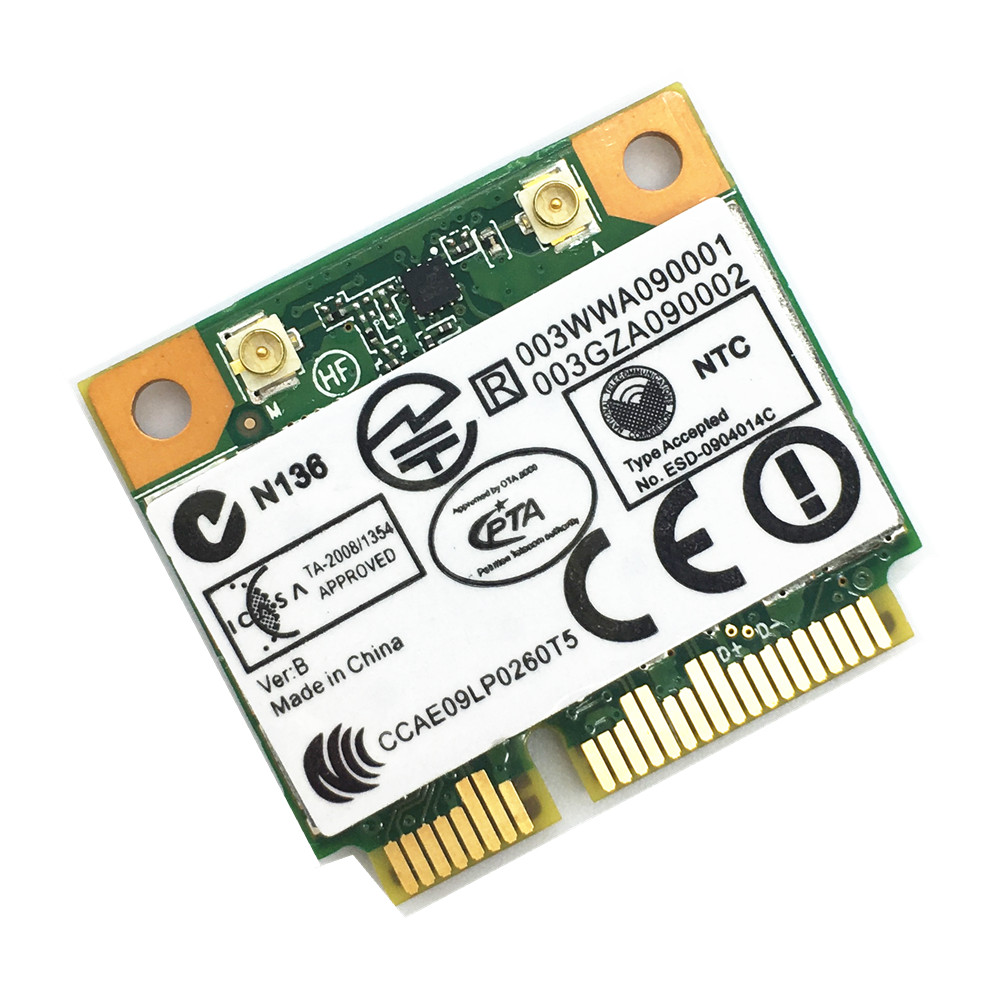 New Half Size PCIe Mini Card 802.11N Wifi Bluetooth 3.0 Combo Atheros AR5B195 For Hackintosh