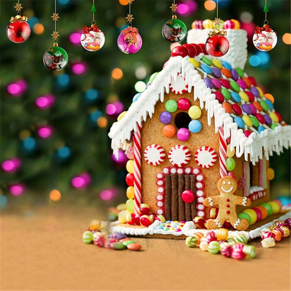 Colorful Christmas Background For Kids.Us 15 0 25 Off Baby Kids Photography Backdrops Printed Colorful Candy House Christmas Balls Children Birthday Party Photo Booth Background In