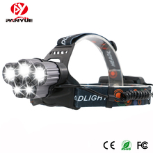 PANYUE 6 Modes High Power 5000 lumen 3T6+2LED USB Rechargeable LED Headlight Outdoor Camping Headlamp Head Flashlight Torch