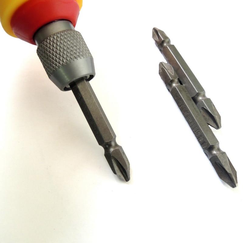 NEWACALOX 1/4 cala PH2 Wkrętak elektryczny Zestaw bitów Chwyt - Narzędzia ręczne - Zdjęcie 3