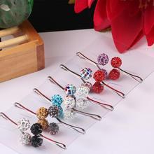 Woman Muslim Fashion Hijab Clip Rhinestone Pearl Ball Scarf Pin