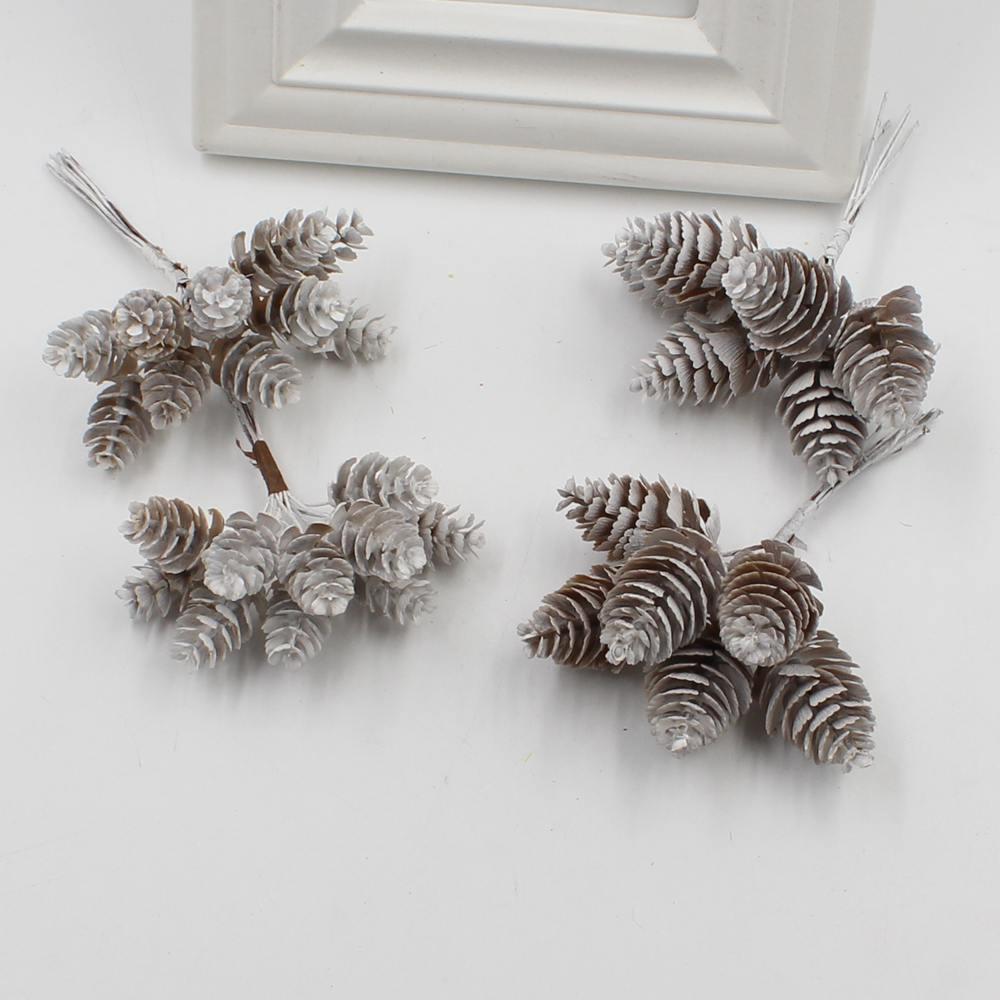 6pcs 27cm Christmas Tree Honeycombs Tissue Paper Trees: 2018 New 1 Bunch (6pcs/10pcs) Artificial Flower Pineapple