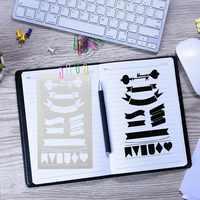 Commercio all'ingrosso Durevole Proiettile Ufficiale Stencil Set Notebook Diario Scrapbook FAI DA TE Modello di Disegno Regalo per I Bambini Pittura Principiante