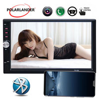 7Bluetooth MP5 Player Car Radio Stereo handfree Mirror Link HD 1024*600 Touch Screen USB TF 2DIN Mirror For Android Phone