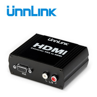 Unnlink VGA TO HDMI Converter Support 1080P@60Hz 1 VGA Signal And 2rca Audio In 1 HDMI Signal Out for PC XBOX PSP