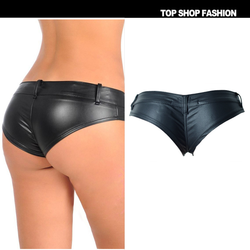 PU Leather Under Shorts 2018 Summer For Women Cool Casual Clothes Skirt Beach Micro Pole Dance Flim Fitness Mini Bodycon Sexy