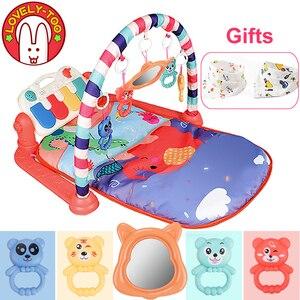 Image 1 - תינוק לשחק מחצלת ילדי של שטיח זחילה כרית ילד פיתוח Playmat מוסיקה תינוקות שטיח רעשן פעילות חינוך צעצועים לילדים