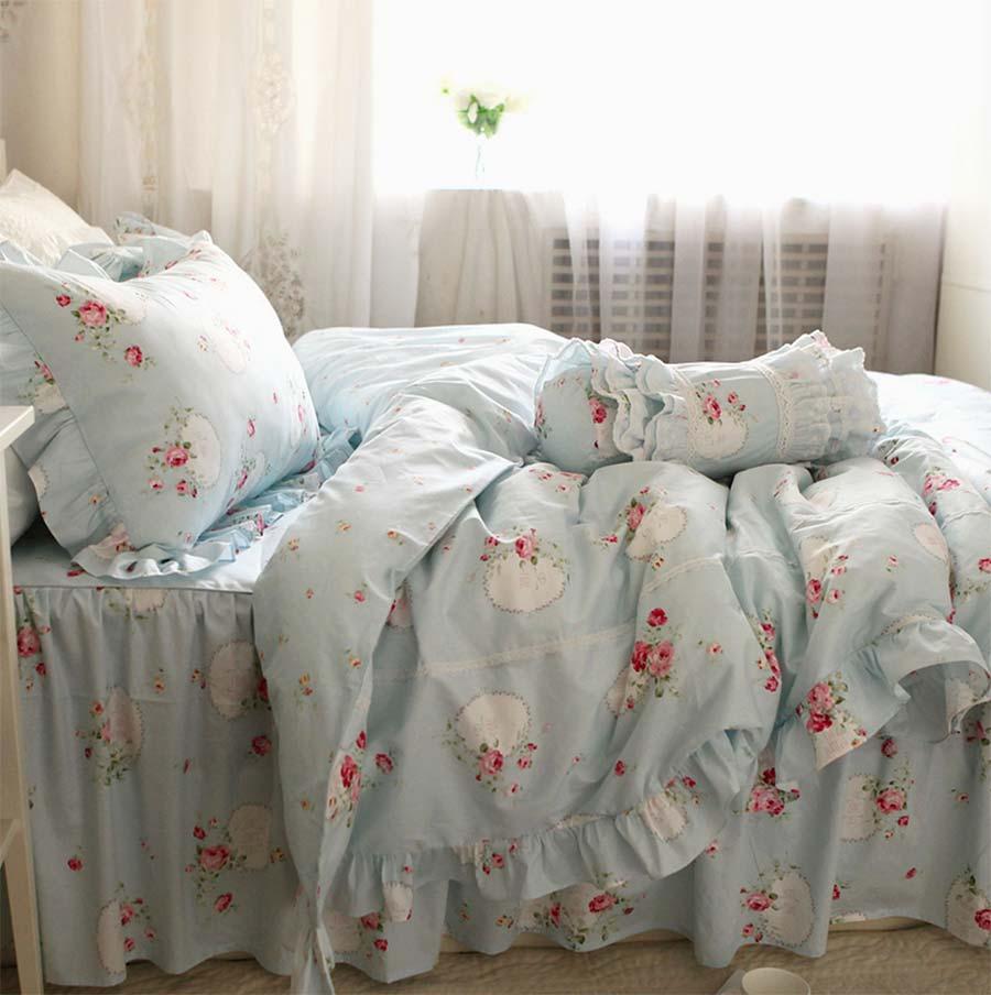 Princezna modrý květ podestýlka pro dospělé dívky, dvojče - Bytový textil