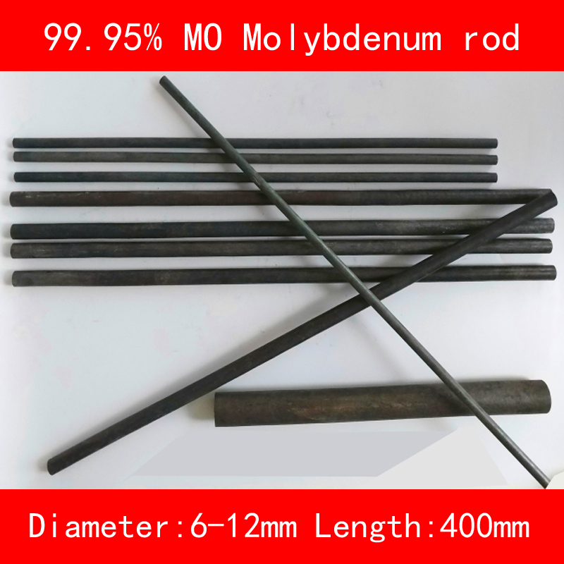 99.95% pure Molybdenum bar diameter 6mm 8mm 10mm 12mm length 400mm metal Mo rod99.95% pure Molybdenum bar diameter 6mm 8mm 10mm 12mm length 400mm metal Mo rod