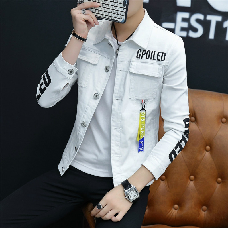 2019 summer thin denim jacket men's Korean version of slim trend men's summer jacket men  jacket men  MW392(China)