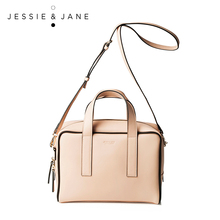 JESSIE&JANE 2016 New Style Women's Hit-colors Split Leather Handbags 1140