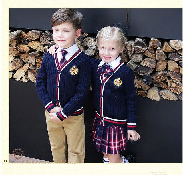 Британский школьная Униформа детский сад униформа Одежда Дети Начальная Школа одежда студентов детский костюм 4 шт. комплект обычаи D-0527