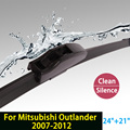 """Lâminas de limpador para mitsubishi outlander (2007-2012) 24 """"+ 21"""" fit padrão j gancho limpador braços só hy-002"""