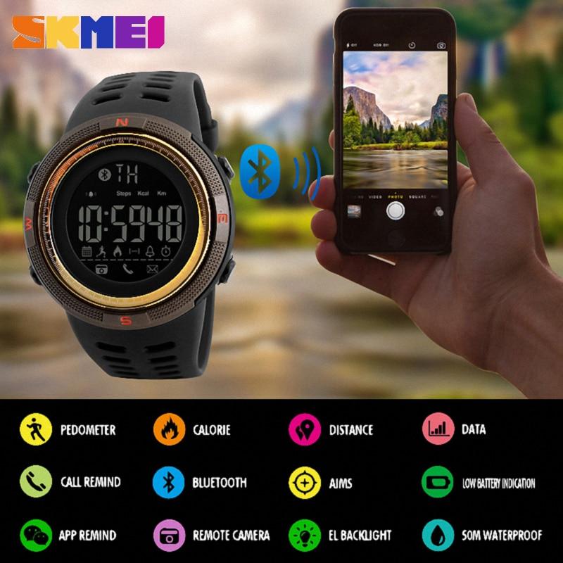 SKMEI Smart Watch Men Chrono Calories 5Bar Waterproof Sport Smartwatches Men Call Reminder Bluetooth Digital Watch Reloj Hombre