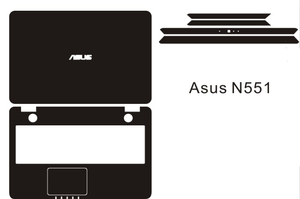 Special Carbon fiber Vinyl Skin Stickers Cover guard For ASUS N551JQ N551JX N551 15.6