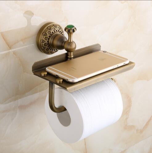 Total Brass Europe Style Bronze Bathroom Paper Holder Toilet Paper
