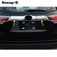 car sticker styling Rear door tailgate bumper frame plate trim lamp trunk Lid parts 1pcs for Toyota Highlander 2015 2016 2017