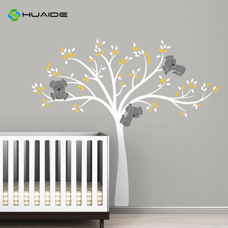 US $21.6 25% OFF|Moderne Koala Äste Wandtattoo Baby Kinderzimmer Wand Decor  Vinyl wandbild DIY Wandaufkleber Für Kinderzimmer Schlafzimmer Wandkunst A  ...