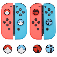 лучшая цена Yoteen for Nintend Switch 4pcs Silicone Analog Thumb Stick Grips Caps NS Controller Case Joy-con Gamepad Joystick Accessories