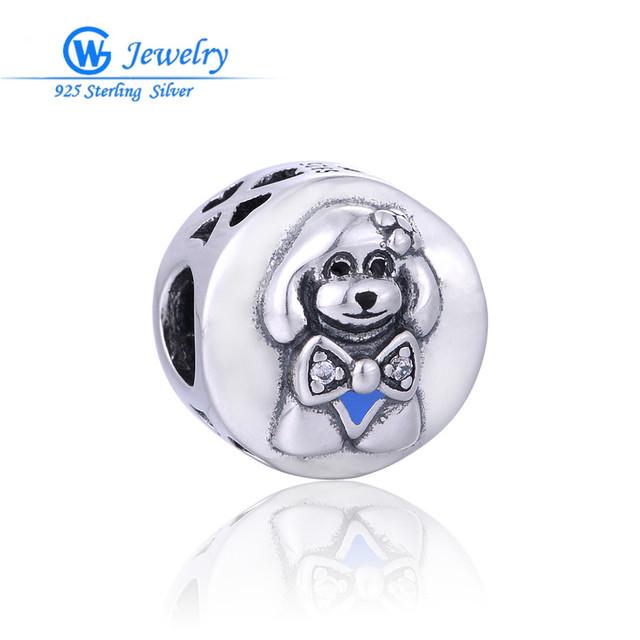Gw fine jewellry de plata de ley 925 collar de perro encantos de la joyería diy para la pulsera t193h20