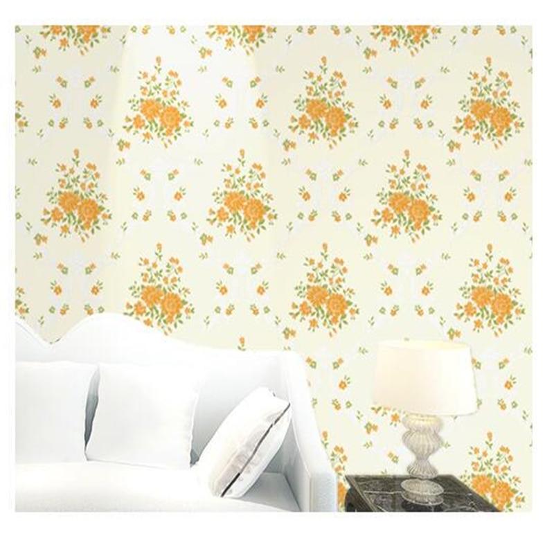 beibehang Green Garden Warm Wedding Room Bedroom Living Room TV Background Wall Paper 3D Floral Nonwoven Wallpaper