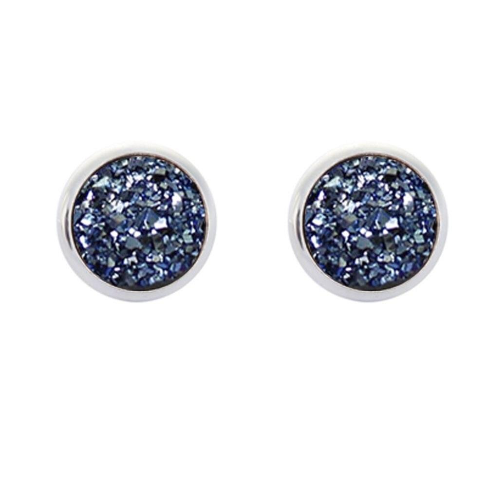 6 Pair//pack Multicolor Crystal Rhinestone Stud Earrings Piercing Cute Round Earring For Women Jewelry 12mm