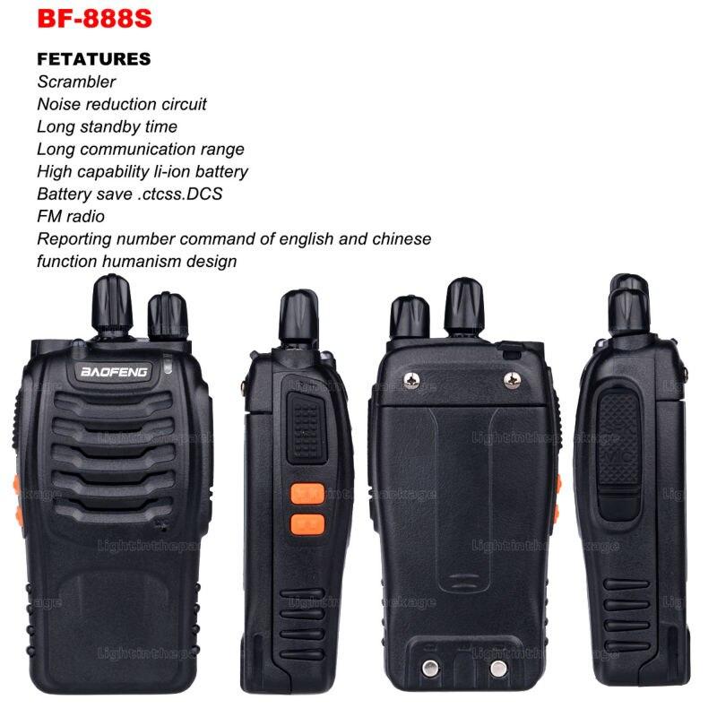 Baofeng BF-888S Walkie Talkie 5W Handheld Pofung bf 888s UHF 5W 400-470MHz 16CH Two Way Portable CB Radio (20)