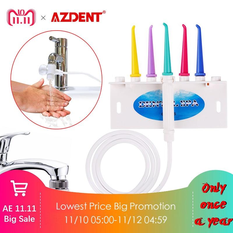 AZDENT grifo agua hilo Dental irrigador Oral Jet cepillo Interdental diente SPA Cleaner blanqueamiento de dientes cepillo de dientes limpieza