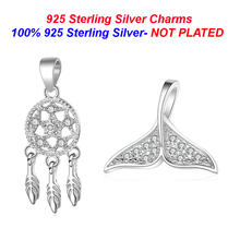 100% 925 Sterling Silver Dreamcather Necklace Pendants Vnistar Whaletail Pendant Charms for Jewelry Making Wholesale(China)
