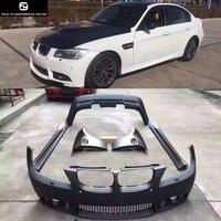 E90 M3 LCI PP unpainted Auto Car front bumper rear bumper side skirts front fenders For BMW E90 M3 LCI 09 12