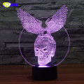 3D Lamp Eagle Grab Skull Night Light Bedside Lights Table Lampara With Changeable Powerful Eagle Night Light Xmas Gift