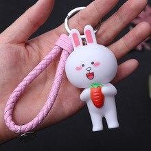 Cute Cartoon Little Bunny Keychain Women Or Men Key Girls Chain 2019 New Car Keyring Charm Bag Gift
