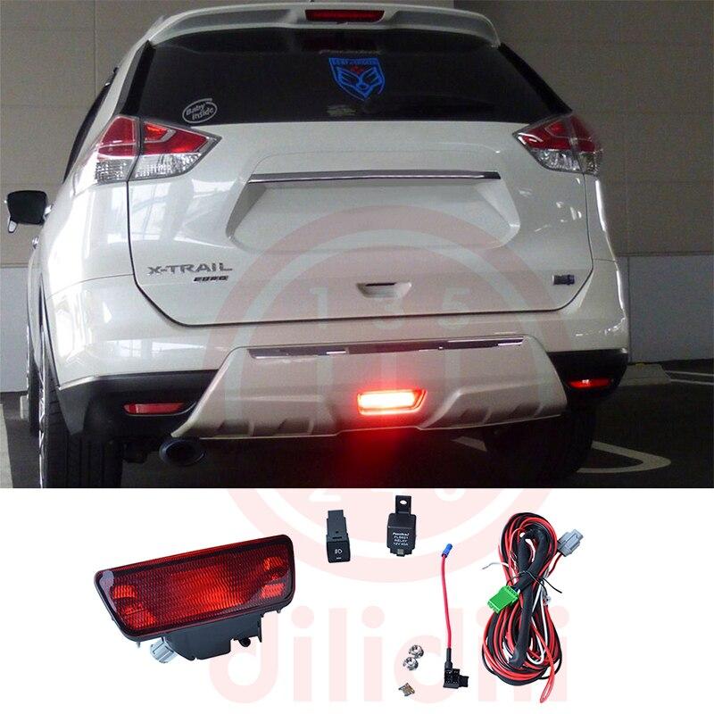 Rear Bumpe Fog Light Lamp kit for Nissan juke rogue X-trail x trail fog light lamps kit for nissan rogue x trail t32 x trail without auto 2017