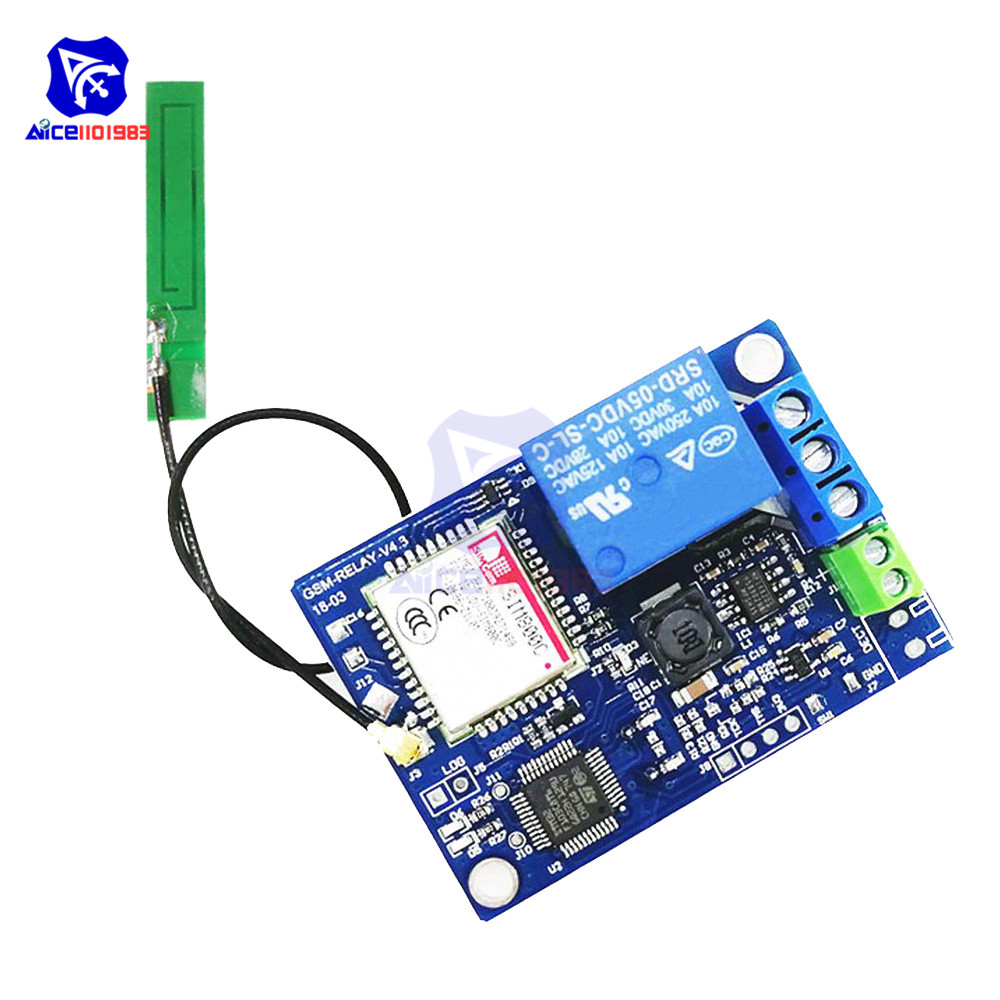 1 Channel GSM SIM800C Relay Module SIM800C STM32F103CBT6 Antenna 2G Network  for Arduino Smart Home SMS GSM Remote Control Switch