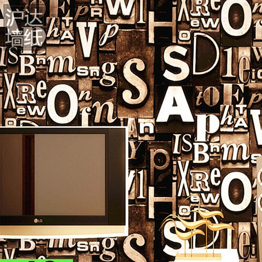 Wallpaper 3d vintage retro finishing letter bar and pub wall wallpaper