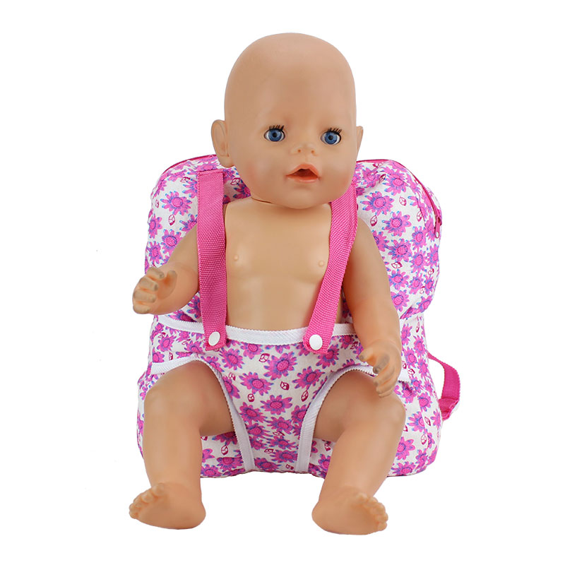 Outgoing Packets Outdoor Carrying Doll Backpack Suitable for Carrying 43cm Baby Born Zapf Doll and American Girl Doll 5pice lot woody 5 different size hanger for 18inch american girl and doll and 43cm baby born zapf
