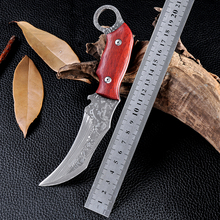 HOT Outdoor Cold Steel Tactical Hunting Knife Wood Handle Karambit Survival Camping Combat Knives Cs Go Facas Taticas Navajas